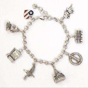 Brighton Washington DC State Silver Charm Bracelet